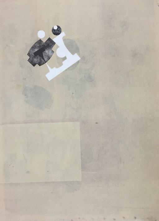 5047- monotype - 75 x 56 cm