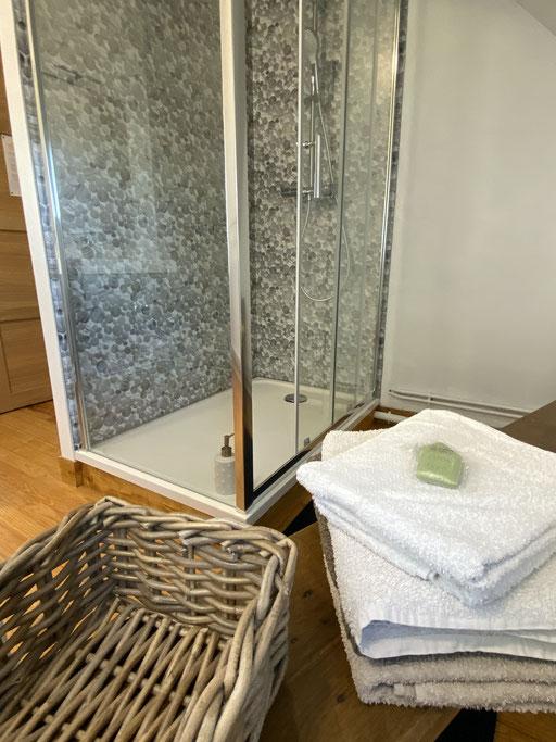Baie de somme une chambre d'hôte à LA VILLA EN BAIE douche et wc