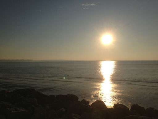 soleil couchant vue sur Baie de Somme de la chambre d'hôte de LA Villa en Baie