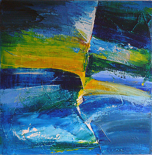 LA VAGUE acryl/toile 30x30                                                  non disponible