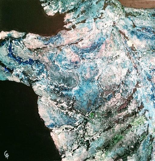 Ecorché 1 Série Acrylique sur toile 50x50cm 2017