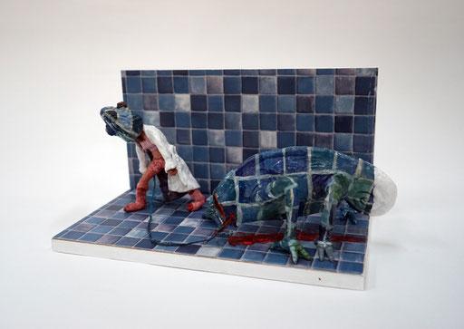 Philipp Kummer   you can run   2015   Polymerton Holz PVC Farbe   20 x 26 x 22 cm