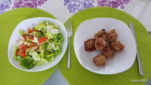 Falafel mit gemischtem Salat
