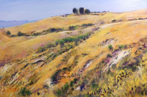 """""""Gehöft bei Volterra II (Toscana)"""", Acryl, 120x80cm, 2013"""