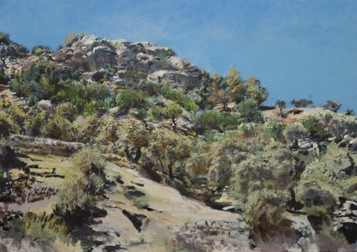 """""""Felsig(Olivengärten auf Mallorca)"""", Acryl, 100x70cm, 2009"""