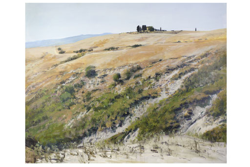 """""""Gehöft bei Volterra I (Toscana)"""", Acryl, 150x120cm, 2012"""