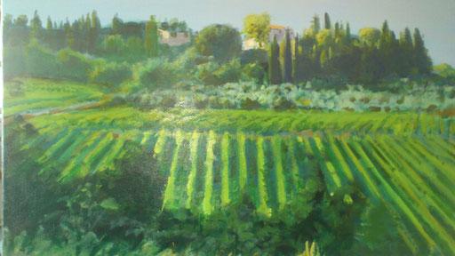 """""""Mugnano bei Colle V D`Elsa (Toscana)"""", Acryl, 80x60cm, 2014"""