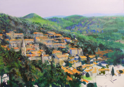 """Smokvica (Insel Korcula, Kroatien)"", Acryl, 70x50cm,2010"