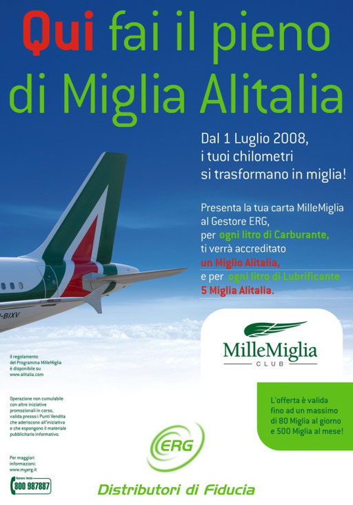 Manifesto Co-marketing ERG/Alitalia