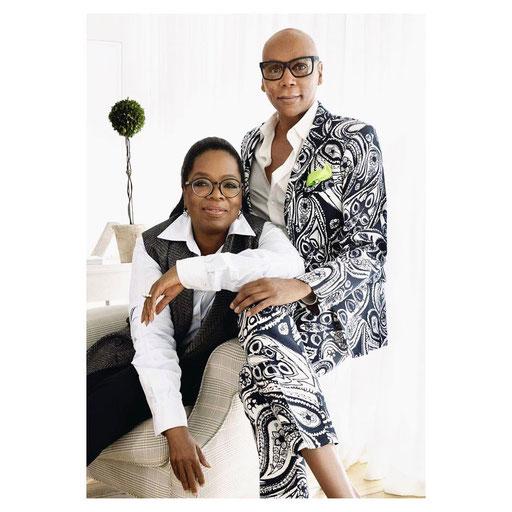 Ru Paul en Oprah Winfrey dragen Andy Wolf Eyewear