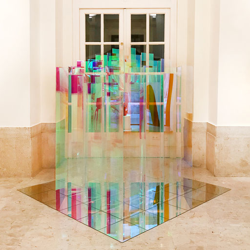 Bobst Heinrich, 280714/1-16, 2015, 180 x 180 x 180 cm, Acrylglas beschichtet / acrylic glass, La Biennale Venezia 2017, Palazzo Bembo