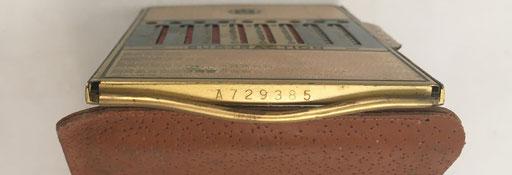 Detalle del número de serie A-729385