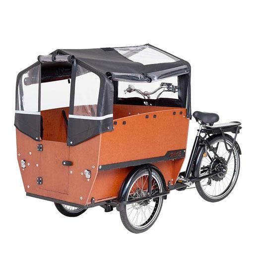Babboe Lastenfahrrad mit Elektromotor Max-E mit Verdeck