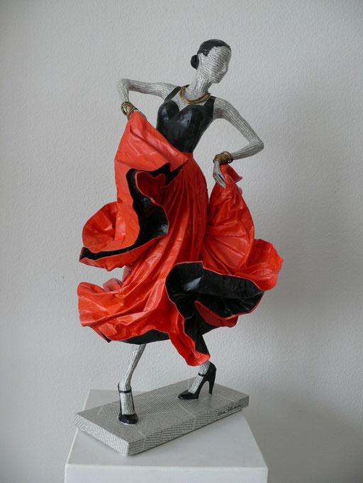 Elena Lichtsteiner, Flamenco V (2017, 80 cm)