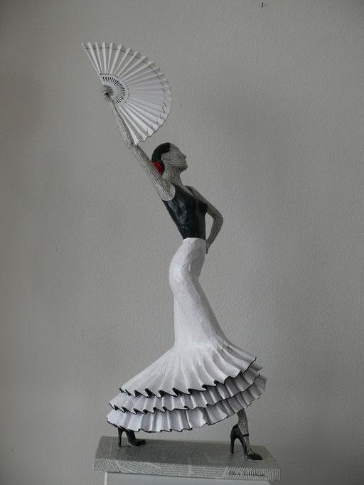 Elena Lichtsteiner: Flamenco IV (2017, 80 cm)