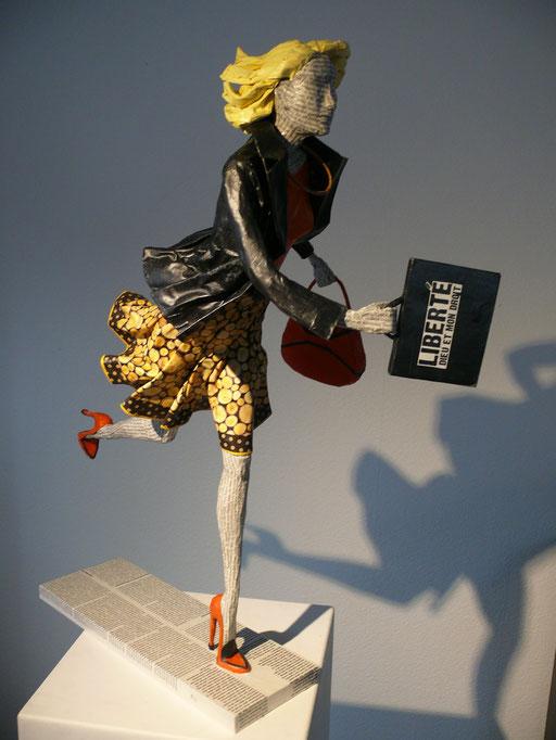 Elena Lichtsteiner, Skulpturen: Das Ziel im Auge (2015, 75 cm)