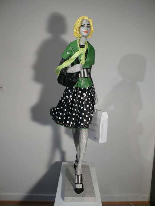 Elena Lichtsteiner, Skulpturen: Der letzte Schrei (2015, 120 cm)