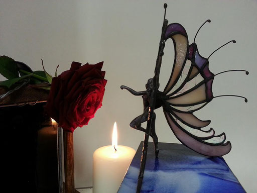 Glas in lood figuur Leana