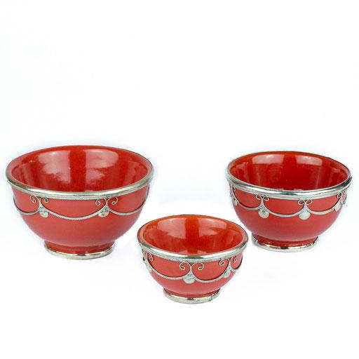 Orientalische Schüssel rotes Glas - CASAORIENT Stuttgart