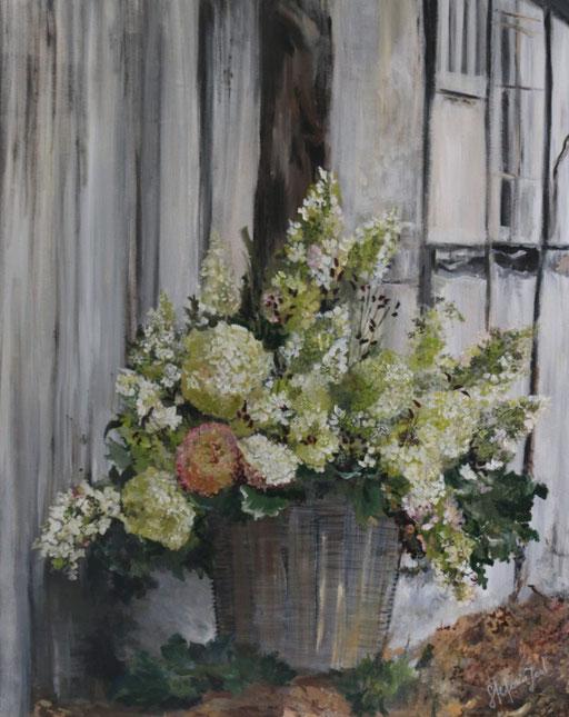 Hortensien 100x80
