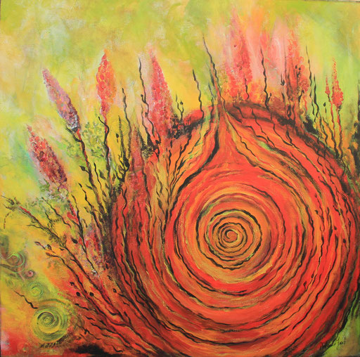 Energiespirale rot-gelb 80x80