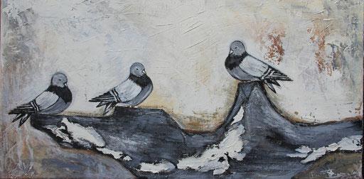 Die drei Tauben 50x100 Verkauft