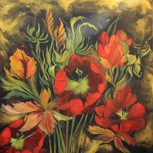Blumenwunder 100x100