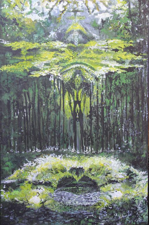 Der Wald 120x80