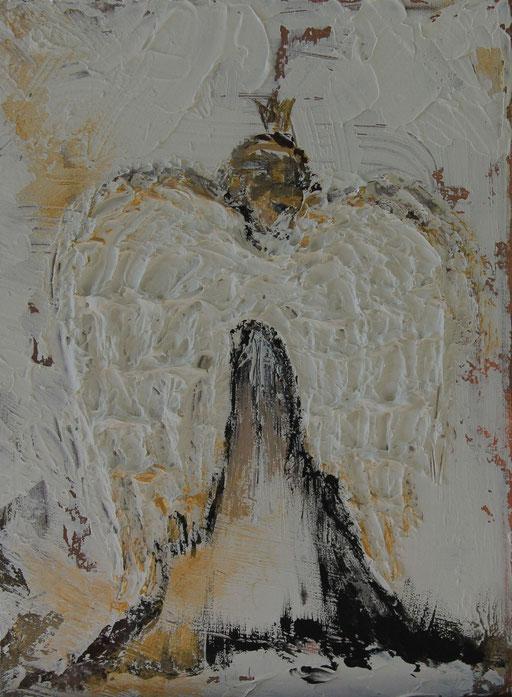 Engel mit Krone 24x18 Verkauft
