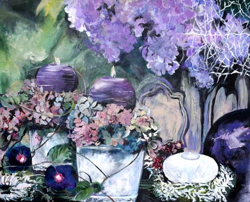 Kerzenlicht violett 100x80