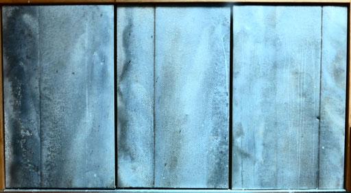 Triptique de zinc -portes de placard