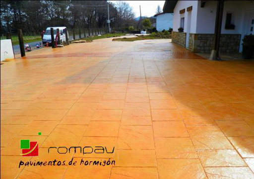 pave beton imprime