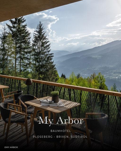 My Arbor, Wellnesshotel, Baumhaus, Baumhotel, Infinitypool, Plose, Brixen - Südtirol, Italien