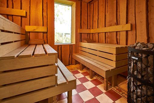 21. Sauna Innenraum