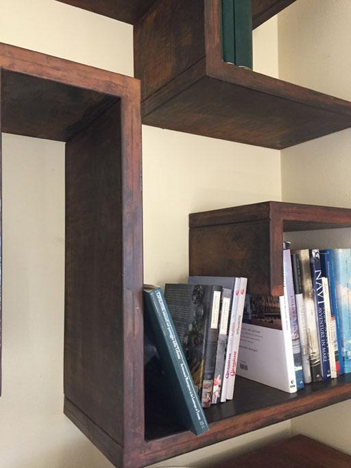 libreria in in acciaio cor-ten