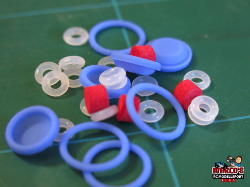 Yeah Racing - Gear Shock 1/10 Aluminium Dämpfer Set 60mm für 1/10 Offroad/Rally