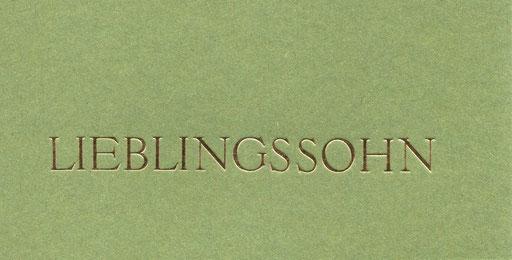 Lieblingssohn grün Din lang 4 Euro