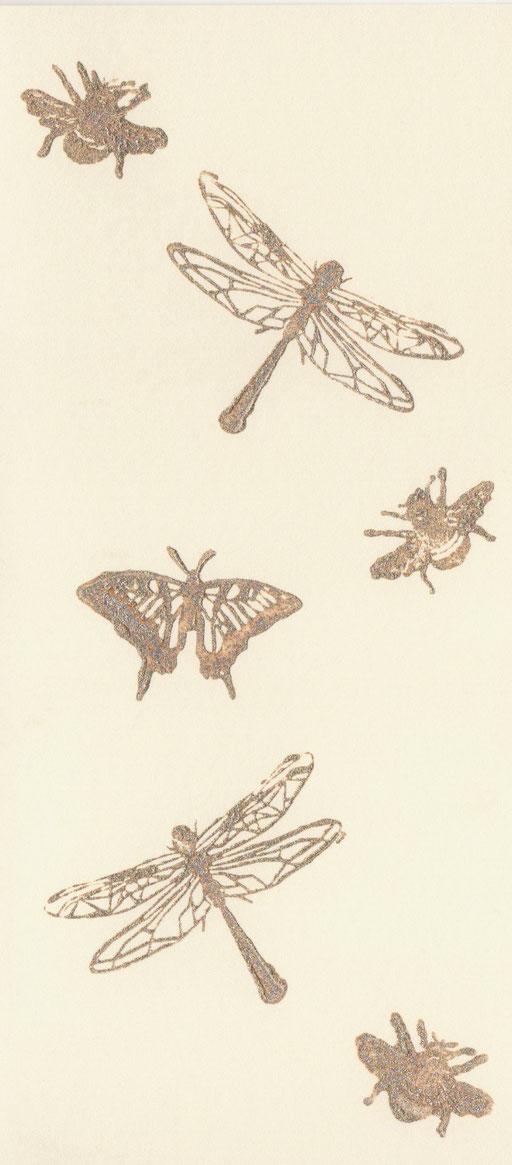 Insekten  Karte Din-lang, 3 Euro