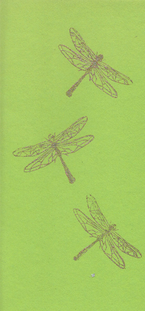 Libellen Karte Din-lang, 3 Euro