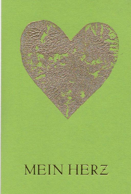 Mein Herz grün C6, 2,50 Euro