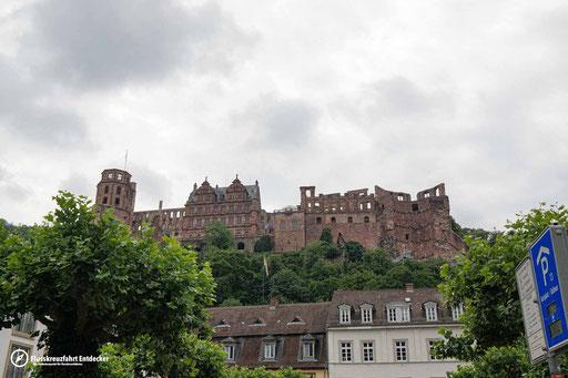 Blick auf das Schloss von unten
