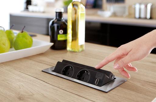 integrierter Mehrfachstecker für die Küche