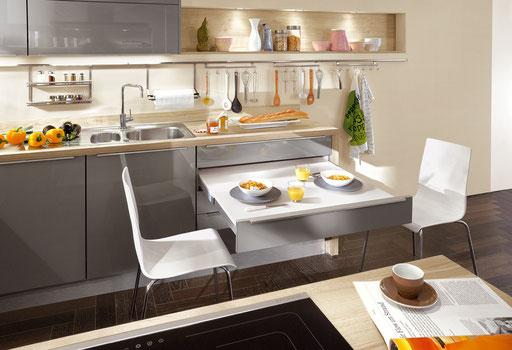 Ausziebarer Küchentisch - das ist platzsparend
