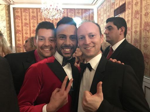 Mit den Dancing Stars Florian Gschaider und Danilo Campisi