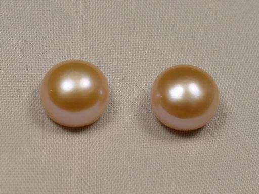 Perle de culture d'eau douce en bouton