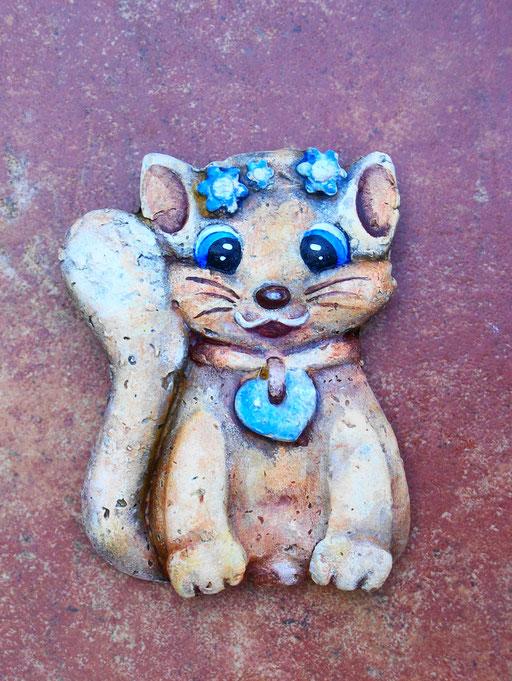 Gattina decorativa cm. 13x10 circa