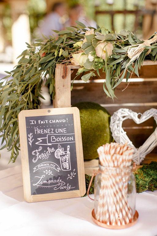décoration champêtre pancarte ardoise