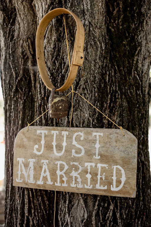 just married pancarte