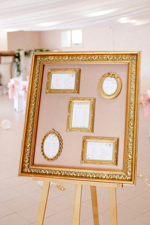 plan de table rose gold