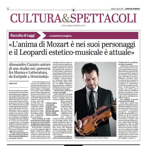 """""""Giornale di Brescia"""", 2017"""